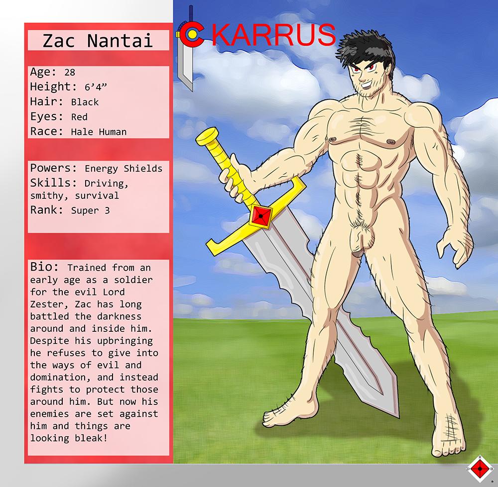 Character Sheet - Zac (Nude)